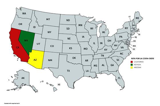 Visitamos 3 estados