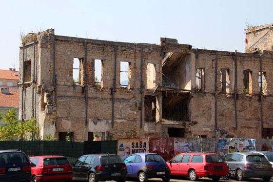 Destrucción en Mostar