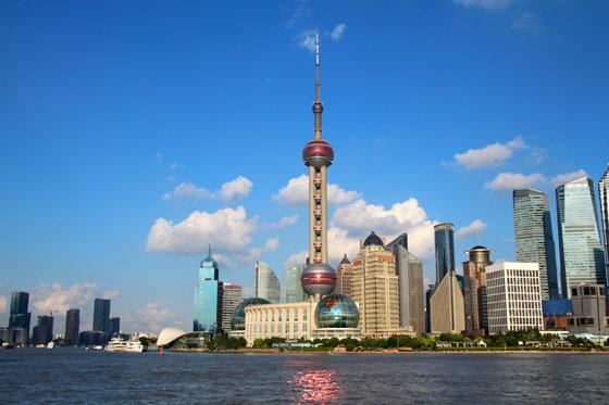 Zona financiera de Shanghai