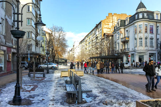 La calle mas famosa de Sofía