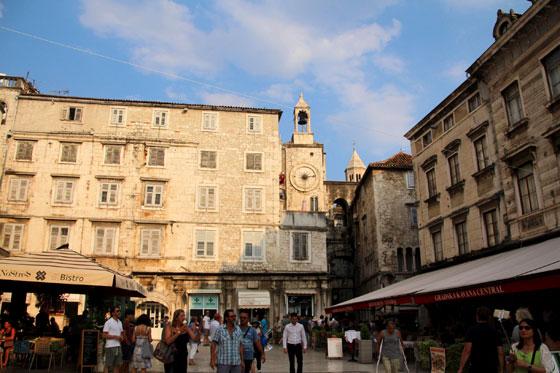 Entrando al casco antiguo de Split