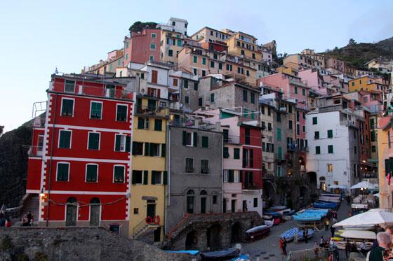 Vistas espectaculares de Riomaggiore desde sus miradores