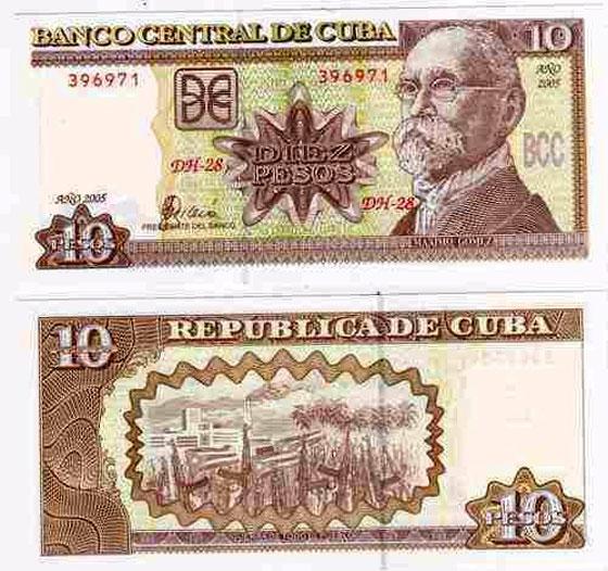 Moneda y cambio Cuba , Pesos cubanos CUP