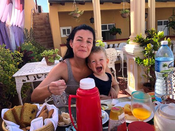 Viajar a Cuba con un bebé (Excelentes desayunos)