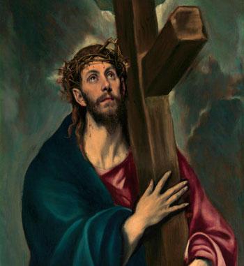 """""""CRISTO QUE LLEVA LA CRUZ"""", de El Greco"""