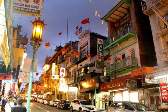 Atardecer en Chinatown