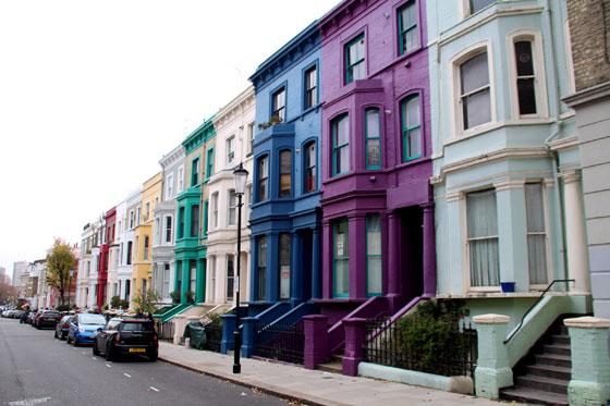 Casas victorianas de colores