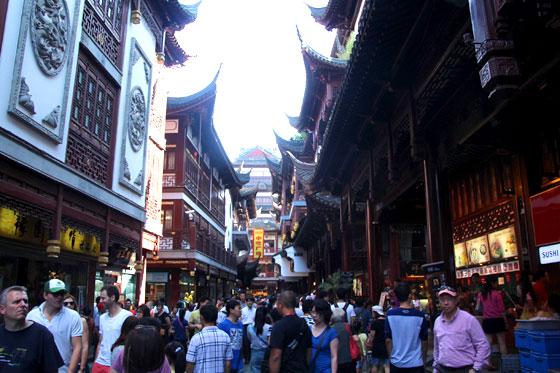 Jardín Yuyuan (el gran bazar)