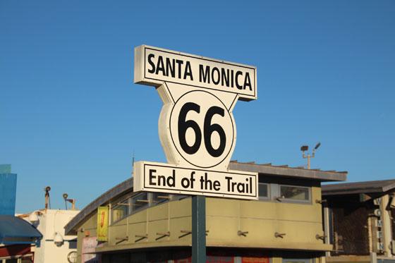 Final del recorrido en Santa Mónica , LA.