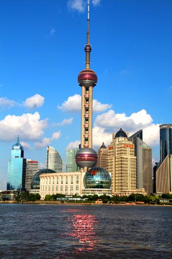 Torre de la TV en el Pudong