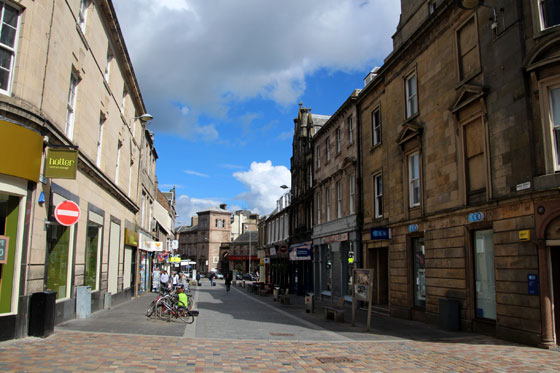 Calles del centro de Inverness