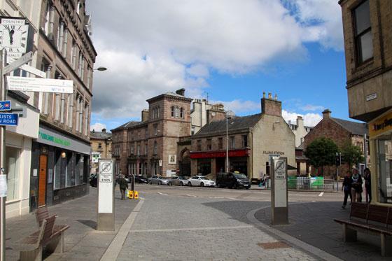 Centro de Inverness , prácticamente todo peatonal