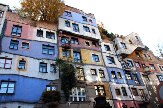 Las famosas casas de colores de Viena