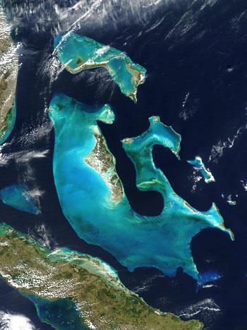 Vista de Bahamas desde satélites