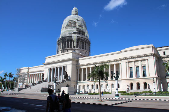 Vista del Capitolio de La Habana