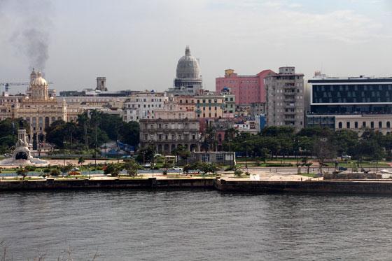 La cúpula del Capitolio desde el Cristo de La Habana