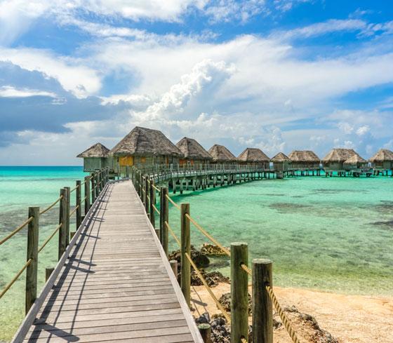 Polinesia Francesa, la isal de Tahití , es la mas famosa de todas y un verdadero paraíso