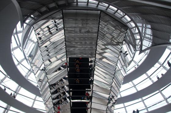 Reflejos en el icono del Bundestag
