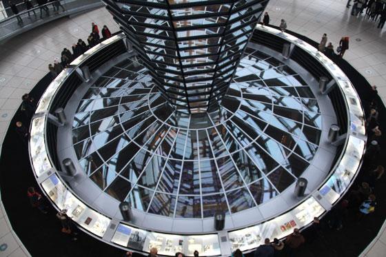Ahí debajo está el parlamento alemán