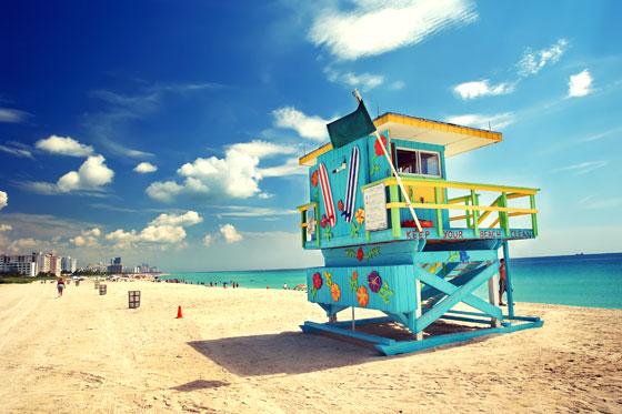 Las famosas casetas de colores de Miami