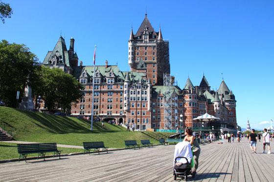 Paseando por el centro histórico de la ciudad de Quebec