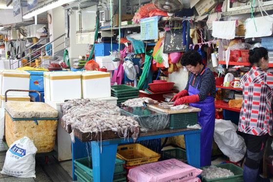 Un lugar vibrante (mercado Jagalchi)