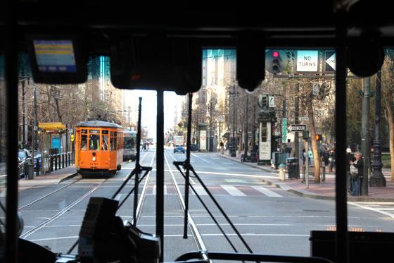 Downtown , a bordo de un tranvía