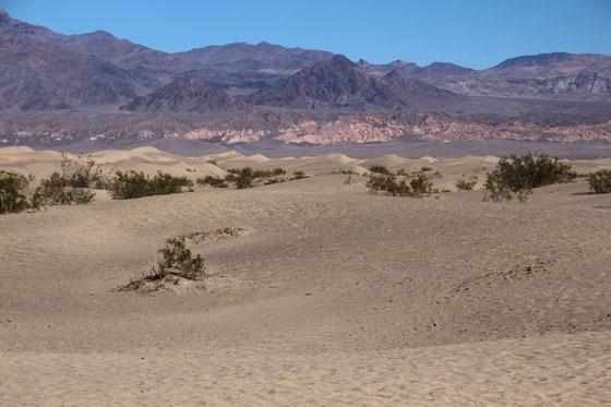 Un paisaje espectacular en el valle de la muerte