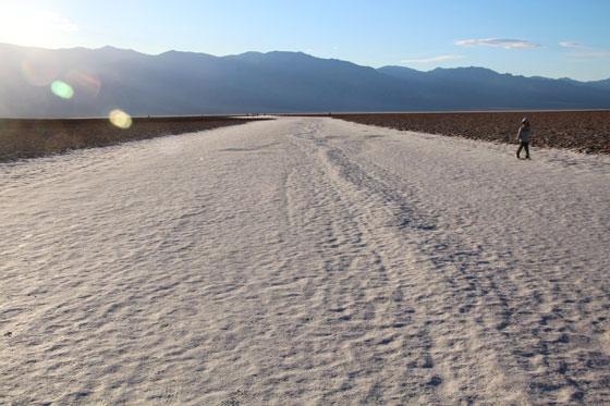 La laguna de sal del Badwater Basin