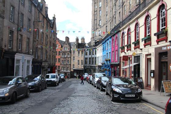Las casas de colores de Edimburgo , Victoria Street