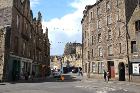 Paseando por el centro histórico medieval de Edimburgo