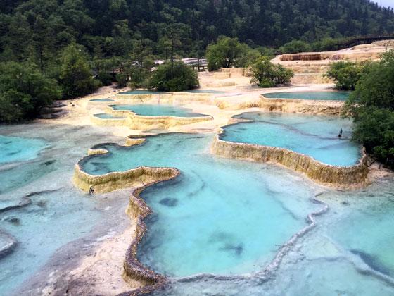 Ruta por China , Parque Nacional Huanglong