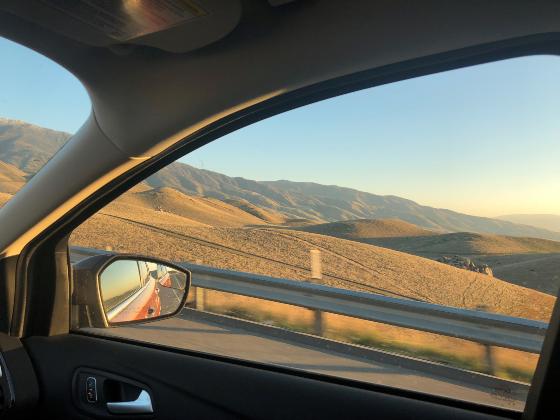 Entrando al desierto de Mojave