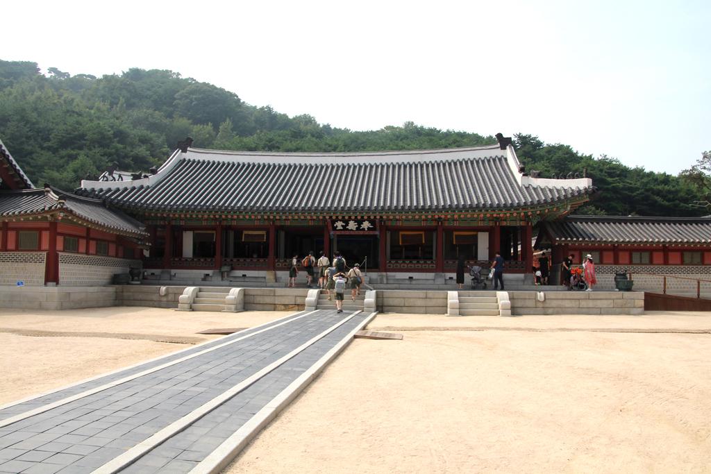 Vista del palacio de Suwon