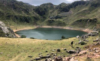 Vista del lago cueva